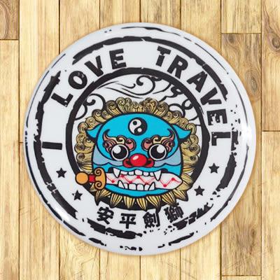 【胸章】安平劍獅郵戳  #  宣傳、裝飾、團體企業 多用途胸章 5.8cm x 5.8cm