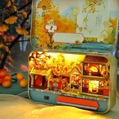 中國風diy小屋迷你四季鐵盒手工拼裝小房子創意玩具生日禮物女生