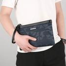 商務手拿包大容量手包 男生包包韓版手拿包 尼龍防水印花男士手機包 迷彩夾包簡約潮流手抓包