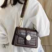 港風復古小包包女包2020流行新款潮時尚百搭錬條斜背包網紅小方包 Korea時尚記