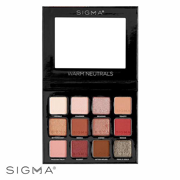 Sigma 12色暖色系眼影盤 13.32g Warm Neutrals Eyeshadow Palette - WBK SHOP