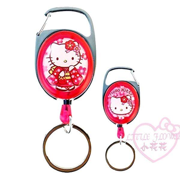 ♥小花花日本精品♥ Hello Kitty 凱蒂貓 和服造型吊飾伸縮拉繩鑰匙圈易拉扣伸縮鎖圈-預2