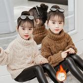 女童高領毛衣洋氣2020   兒 加絨加厚中大童小女孩打底衫小山好物