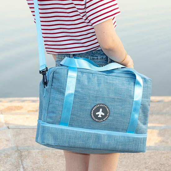 旅行包 行李袋 登機包 收納袋 洗漱袋 大容量 防水 乾濕分離 刷色分層旅行袋 【N011】慢思行