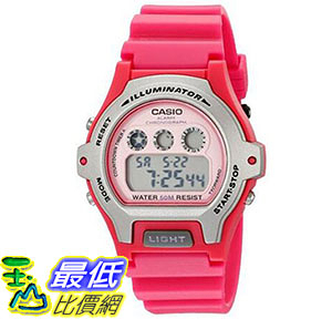 [美國直購] 手錶 Casio Womens LW-202H-4AVCF Illuminator Pink Resin Watch