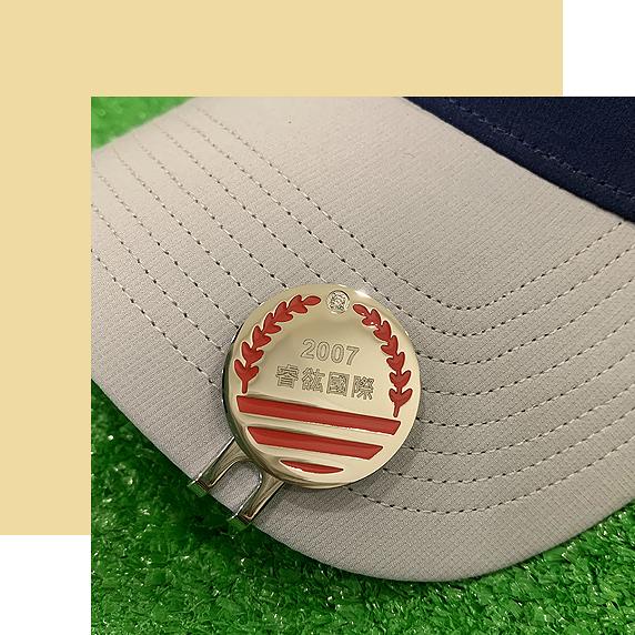 【FulgorJewel】客製高爾夫球標 桂冠款(紅)-Laurel Design Ball Marker