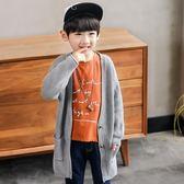 雙11購物節童裝男童毛衣外套春秋款兒童開襟針織衫秋裝百搭潮品