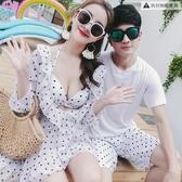情侶泳衣比基尼三件套聚攏性感遮肚日系【聚寶屋】
