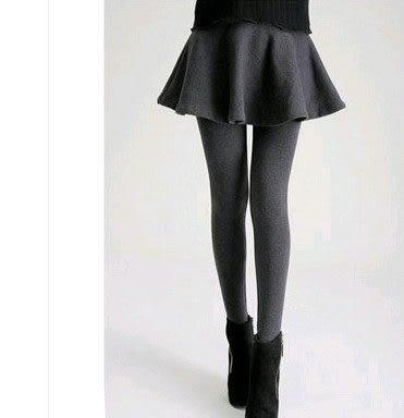 EASON SHOP(GU3212)黑色運動防走光褲裙女內搭褲短裙褲A字傘裙假兩件褶皺裙褲帶裙大擺加絨加厚