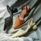 Dingle丁果ღ真皮手工定製糖果色系編織造型涼鞋(三色34-40)