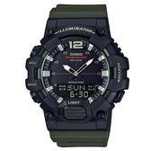 【僾瑪精品】CASIO 卡西歐 10年電力雙顯數字運動錶-墨綠/HDC-700-3A