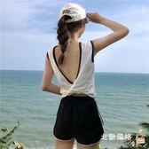 快速出貨-無袖T恤女漏後背衣服夏季新平韓版顯瘦