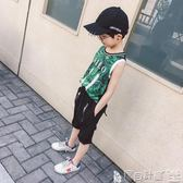 兒童運動背心 男童背心夏裝 兒童無袖t恤上衣中大童夏季運動韓版潮童裝 寶貝計畫