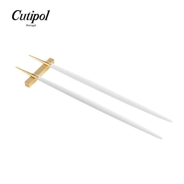 葡萄牙 Cutipol GOA系列筷子+筷架組 (白金)