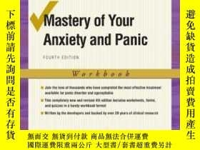 二手書博民逛書店Mastery罕見Of Your Anxiety And Panic: Workbook (treatments