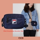 FILA 斜背包 Crossbody Shoulder Bag 藍 白 男女款 外出 側背包 肩背 隨身小包 【ACS】 BMV3018NV