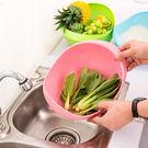 [現貨] 加大加厚底紋瀝水籃 洗菜籃 洗米籃 (不挑色) KC0423