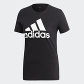 ADIDAS W BOS CO TEE 女裝 短袖 胸前LOGO 羅紋圓領 棉質 黑【運動世界】FQ3237