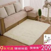 珊瑚絨地毯客廳茶幾地墊家用房間臥室床邊滿鋪可愛榻榻現代可機洗定制免運直出 交換禮物
