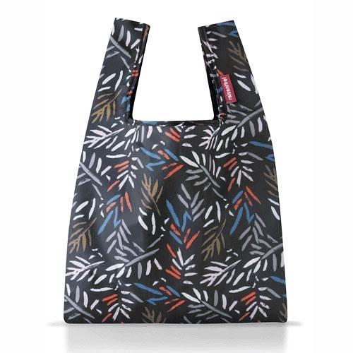 【reisenthel】-德國進口輕量摺疊收納 Mini迷你環保購物袋- 新花色(酷黑秋葉款)