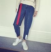 韓國 寬褲 闊腿褲 牛仔 復古 風格牛仔 買褲 送腰帶 (買一送一)