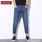 夏季薄款高彈力九分牛仔褲男直筒修身港風9分褲寬鬆休閒韓版潮流 遇見生活