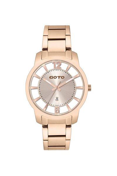 GOTO 愛戀情深時尚手錶-玫瑰金