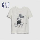 Gap女童Gap x Disney 迪士尼系列米奇舒適圓領短袖T恤546051-白色