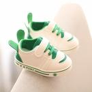 小白鞋兒童鞋春秋男女寶寶學步鞋軟底止滑1-2-3歲嬰兒鞋皮面防潑水