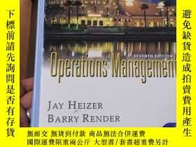 二手書博民逛書店Operations罕見Management(seventh edition)Y6911 JAY HEIZER