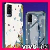 VIVO X60 X50 Pro 水墨系列 創意限量版網紅玻璃殼 全包軟邊 鋼化玻璃背板 手機殼 手機套