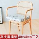 【奶油獅】森林野餐-久坐專用二合一高支撐記憶聚合紓壓坐墊-灰(二入)