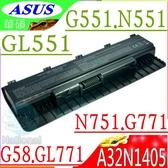 ASUS A32N1405 (保固最久)-華碩 G551,G771,N551,N751,GL551,GL771,G58,G551JK,N551J, N551JB, N551JK
