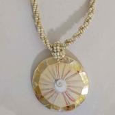 陽光貝殼圓型項鍊