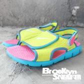 Nike SUNRAY ADJUST 4 GGP 童 綠粉藍 涼鞋 中童 (布魯克林)  386520-700