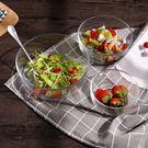 家用創意吃飯小碗餐具透明玻璃水果甜品沙拉碗大號學生泡面碗湯碗