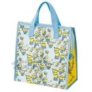 〔小禮堂〕小小兵 方形不織布保冷手提袋《藍黃.角色滿版》便當袋.野餐袋.購物袋 4973307-41496