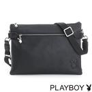 PLAYBOY- 斜背包 Punky playgirl系列-個性黑