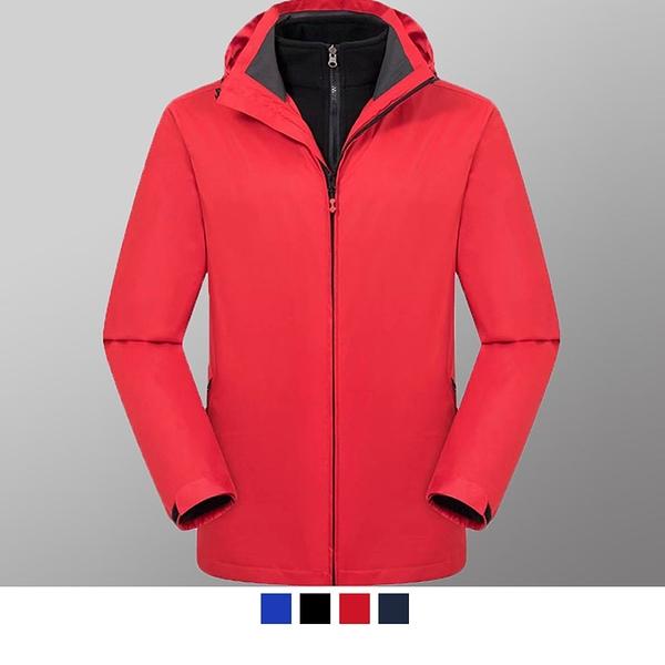 【晶輝團服制服】MF007*經典二件式拚接配色防風防潑水衝鋒外套(似GORE-TEX) 可單買/ 代印公司LOGO