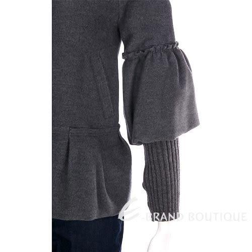 SCERVINO 灰色特殊袖口設計毛料外套 0940418-06