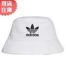 【現貨】Adidas Originals Bucket 帽子 漁夫帽 流行 休閒 三葉草 刺繡 白【運動世界】FQ4641