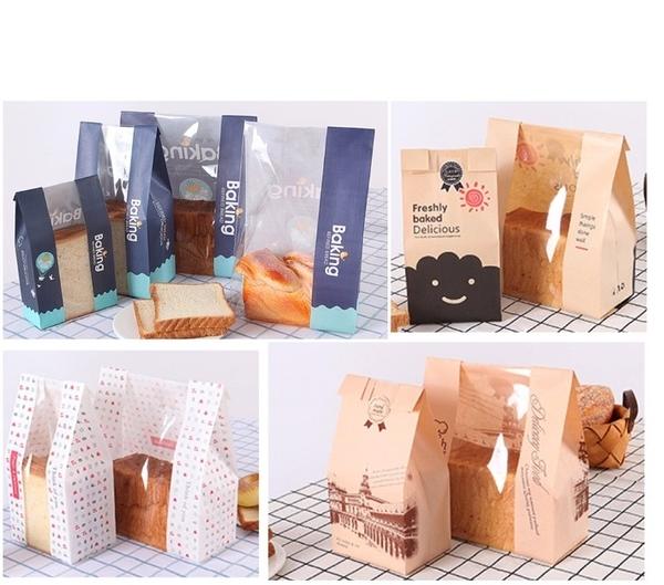 1入 450克開窗土司袋 450g烘烤麵包吐司袋【D111】吐司袋 環保牛皮紙麵包袋 淋膜紙袋 包裝袋