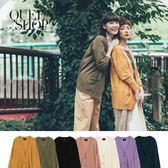 Queen Shop【02010922】純色開釦雙口袋針織外套 七色售*預購*