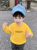 男童上衣男童毛衣潮小童套頭寶寶洋氣仿水貂絨新款韓版兒童高領針織衫童趣屋促銷好物