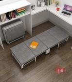 折疊床 折疊床單人家用成人海綿木板陪護辦公室午休床便攜簡易四折床T