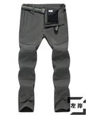 戶外沖鋒褲男女冬季防風防水防寒滑雪保暖登山軟殼【左岸男裝】