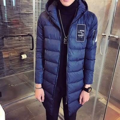夾克外套-連帽冬季中長版時尚保暖夾棉男外套3色73qa27【時尚巴黎】