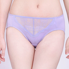 思薇爾-沁甜花漾系列M-XXL蕾絲中腰三角內褲(宇宙紫)