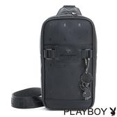PLAYBOY- 基本款單肩背包 黑夜爵士系列-爵士黑