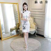 時尚女裝旗袍旗袍小短款